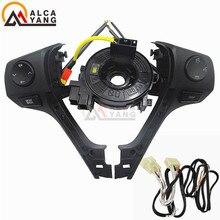 Nuevo Bluetooth teléfono volante Control de Audio botón 84250-02B50 y Cables para TOYOTA Corolla RAV4 2014, 2015