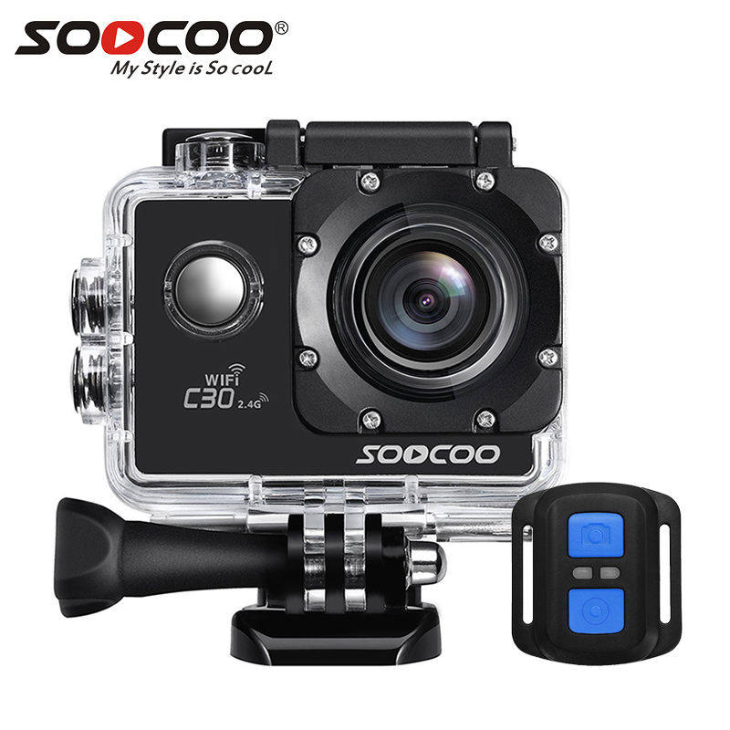 SOOCOO C30R 4K Sports Camera Wifi Gyro 30M Waterproof Adjustable Viewing Angles Bike Video Action Camera 170 Degree Wide Lens цена