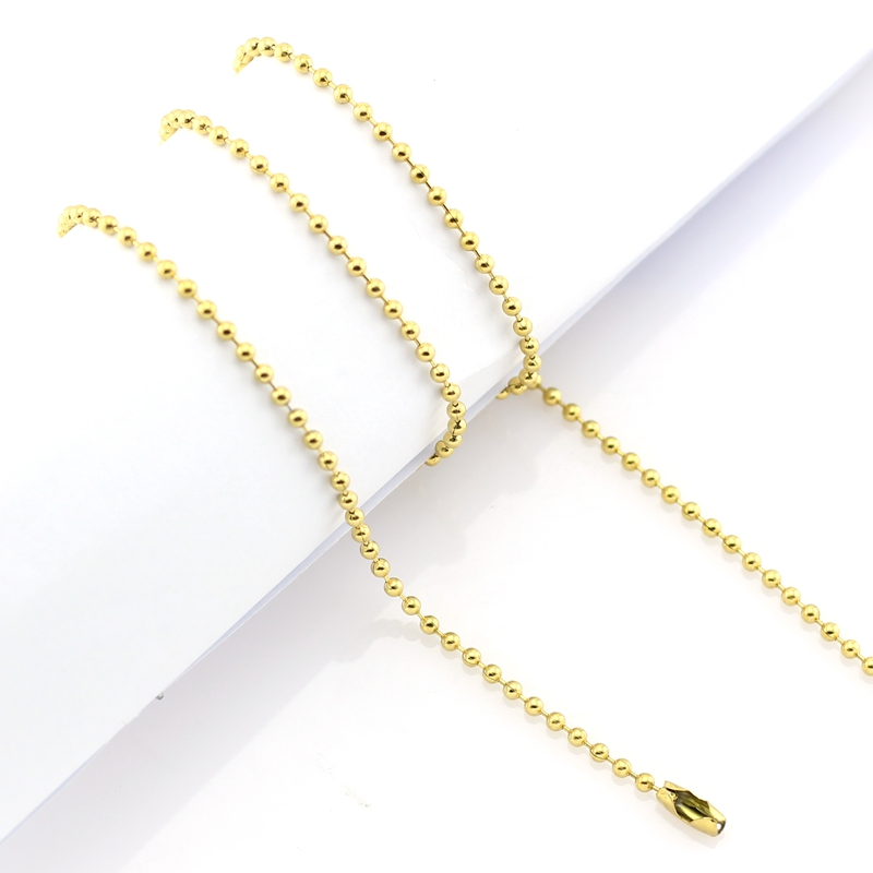 Wholesale chains 18 20 24 28 32 2.4mm silver/ gold/ rose gold/black 316 Stainless Steel Ball Chain Necklace
