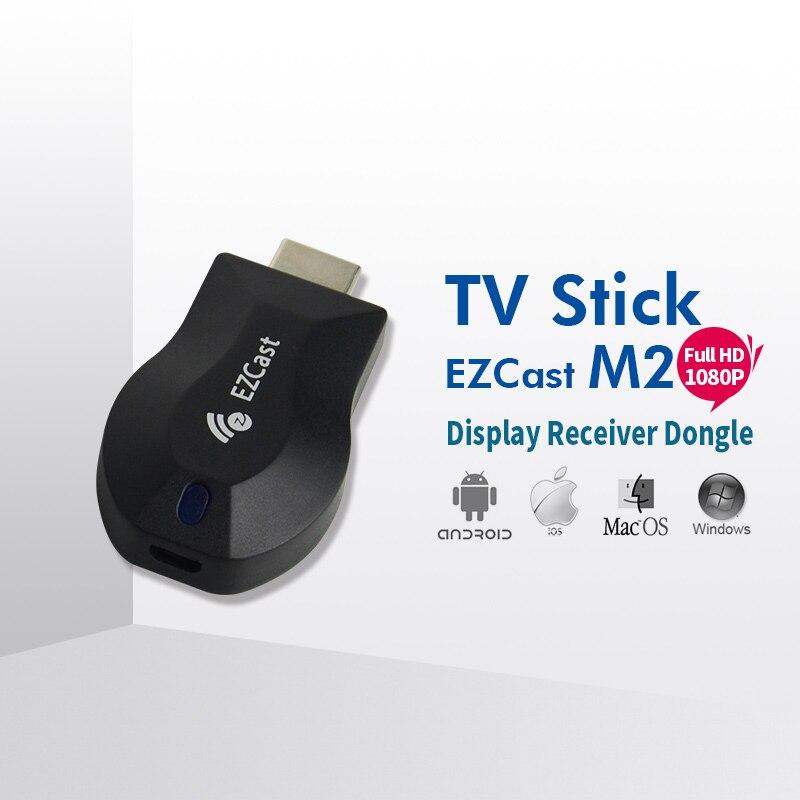 10 шт. EZcast m2 HDMI WiFi Дисплей AllShare адаптер ТВ stick медиаплеера 1080 P Windows IOS Andriod использовать против Chrome литой Miracast