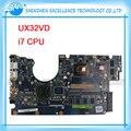 Para asus placa madre del ordenador portátil ux32vd ssd intel core cpu con 60-np0mb1n00-a11 i7-3517 ux32vd mainboard el 100% probó muy bien