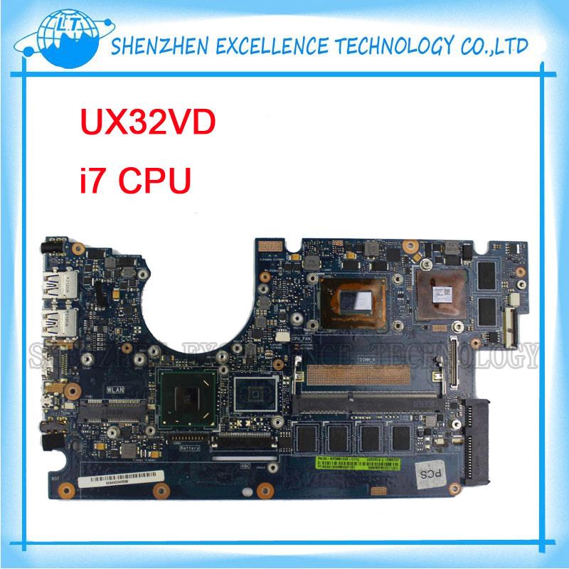 Prix pour Pour ASUS Mère D'ordinateur Portable UX32VD SSD Intel Core I7-3517 CPU 2 GB GT620M avec 60-NP0MB1N00-A11 UX32VD Mainboard 100% Testé OK