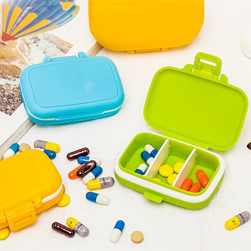 3 Grids Portable Mini Pill Case Medicine Boxes Travel Home Medical Drugs Pill Case Tablet Empty Container Home Holder Cases