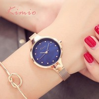 Kimio señoras simples pulsera diamante mujer relojes Relojes de cuarzo mujer reloj de moda 2017 marca Relojes de mujer para mujeres reloj