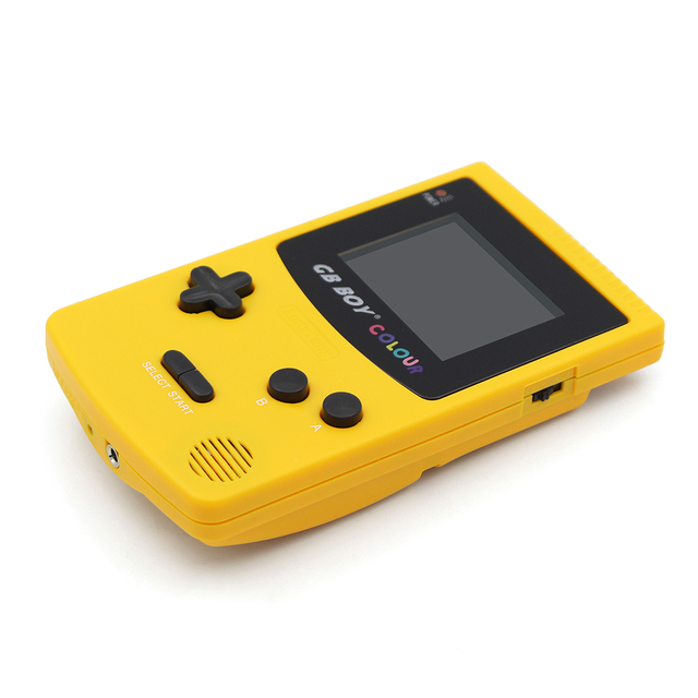GB Boy Color Colour Handheld Game Consoles Game Player with Backlit 66 built-in games Yellow
