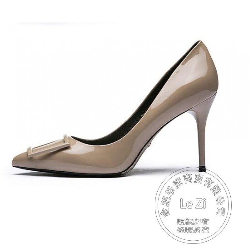 ФОТО Plateau Models Hot Selling Classic Thin Heel High Quality Ladies Shoes With Heels Winkle Picker Dance Wear Superstar Pumps
