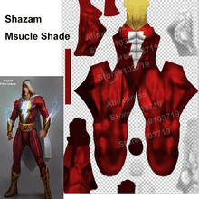 Hero Catcher Hero Shazam Costume 3D Shade Spandex Cosplay Halloween Shazam Superhero Costume Captain Marvel Lycra Costume