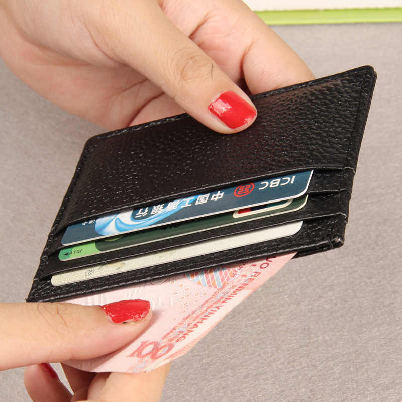 Fashion New Men Women's Driver's License Package Cowhide Leather ID Holders Small Change Ultrathin 11 Colors Card Holder Wallet