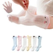 Chivry 6 Pairs/lot Cute Baby Stocking Anti-Slip Newborn Infant Cartoon Princess Girls Stockings Summer Mesh Breathable