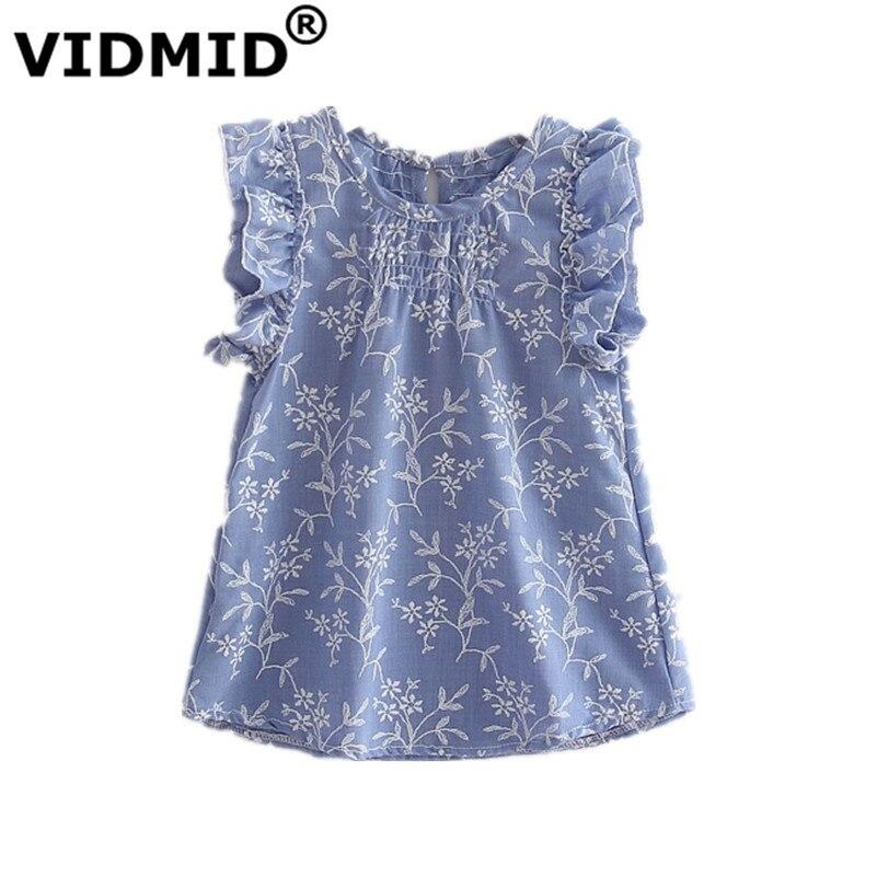 VIDMID 2017 children casual dress kids girls summer fashion short  t-shirt dress baby girls dress Children's Cloting 6002 03