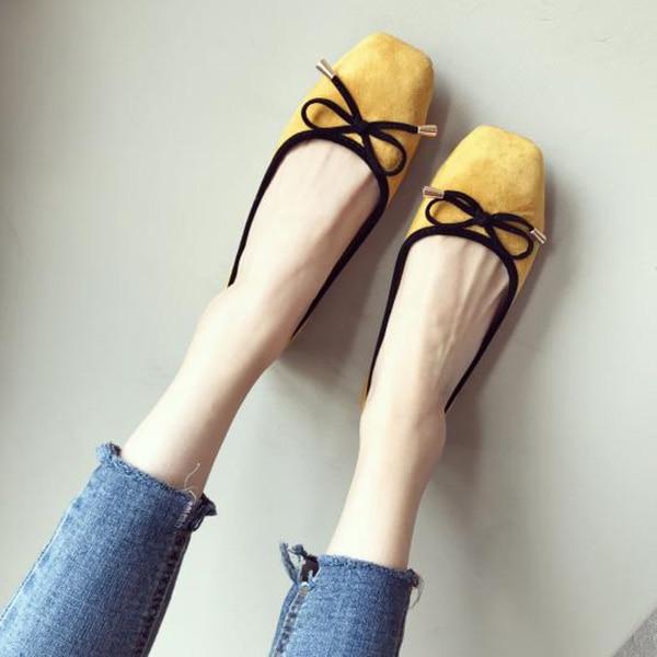 Apricot rouge De Mode Femmes Appartements Doux Noir jaune Chaussures La A286 Plus Rouge Taille Simples Bateau noir Hw1xHZOf