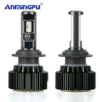 ANMINGPU 2Pcs 8000LM Headlight Blubs H4 LED H7 H8 H11 HB3 9005 HB4 9006 H1 H3