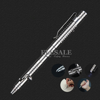 New Stainless Steel Tactical Pen With Led Light For Self Defense Emergency Glass Breaker EDC Tool