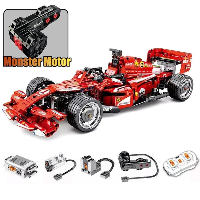 RC F1 voiture de course Compatible Legoing Technic ville modèle blocs de construction garçons cadeaux d'anniversaire télécommande voiture jouets pour enfants-in Blocs from Jeux et loisirs    1