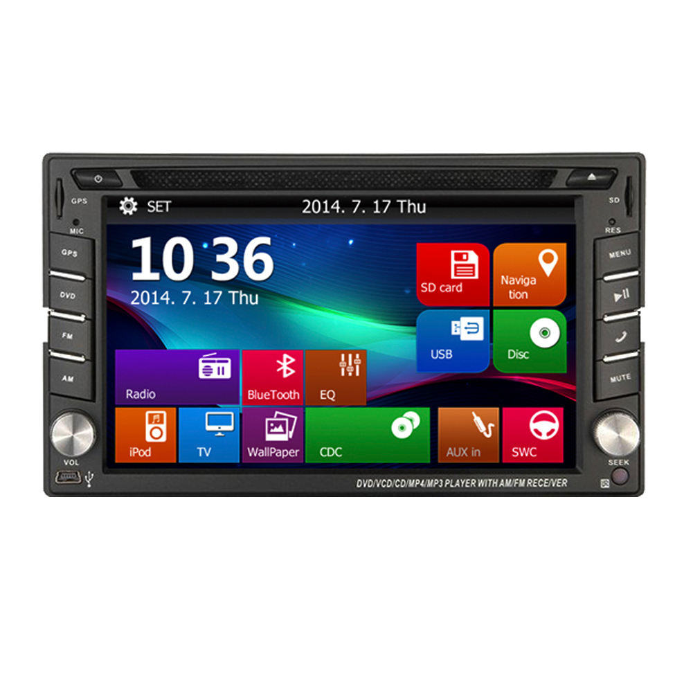 Carte GPS voiture DVD ecran tactile HeadUnit MP5 PC Audio RDS Double Din MP3 récepteur stéréo Radio iPod USB Autoradio