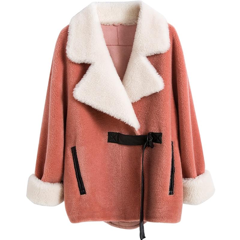2018 Doublure Court Veste Fourrure Femmes Laine Daim pink Coréen De blue En Kafeizong Automne Hiver Vêtements Zt1649 Manteau Manteaux Vintage Femelle 3uTKclJ1F