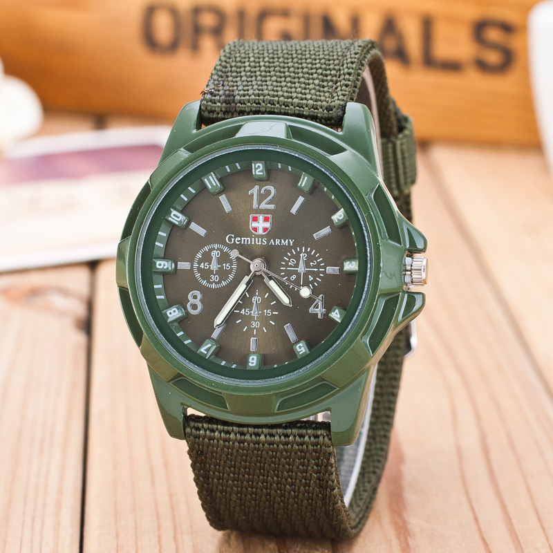 2019 New Famous Brand Men Quartz Watch Army Soldier Military Canvas Strap Fabric Analog Wrist Watches Sports Wristwatches Clock