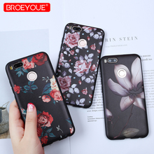Luxury Phone Shell For Redmi 4X Case 4A Note 4 4X 5 5A 5 Pro Lotus leaf 3D Relief Soft TPU Silicone Flower Case For Xiaomi Mi 5X все цены