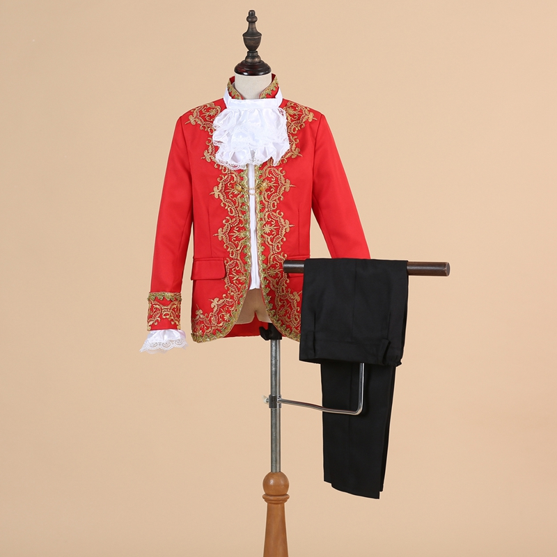 Children's Golden Flower Little Palace costumes perform stage boy retro Prince Charming 61 European-style performance dress