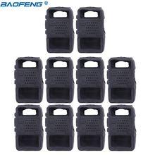 10 sztuk podręczny etui z miękkiej gumy przenośna pokrywa silikonowa Shell dla Baofeng UV 5R UV 5RE DM 5R Plus Walkie Talkie