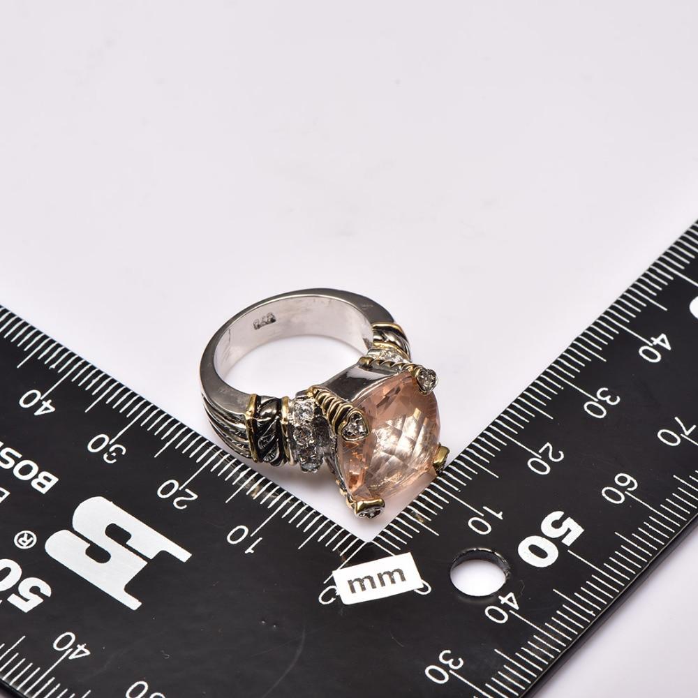 Ыстық сатылым Морганит 925 стерлинг - Сәндік зергерлік бұйымдар - фото 3