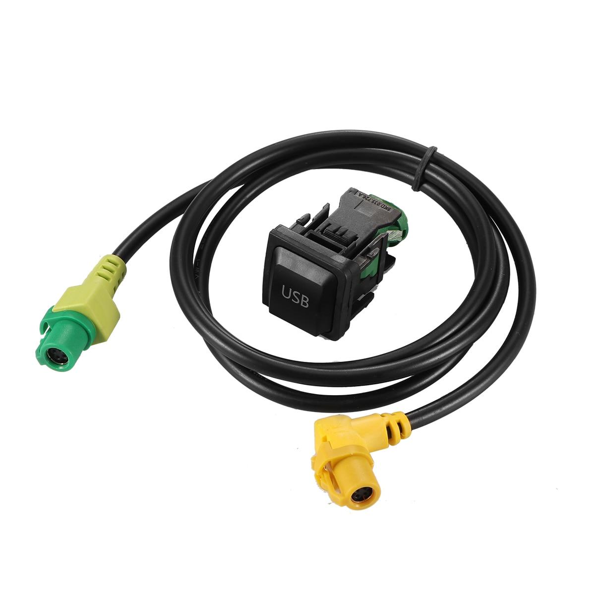 USB Switch Plug Cable+Aux Switch Cable Car USB AUX Audio