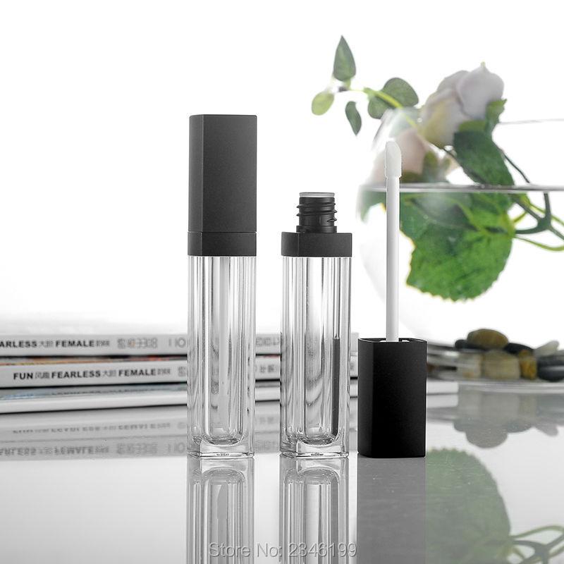 10 ML 50 sztuk/partia akrylowe puste rurki połysk, DIY wysokiej klasy wielokrotnego napełniania szminki rury, najwyższej jakości krem do rzęs pojemnik kosmetyczny w Butelki wielokrotnego użytku od Uroda i zdrowie na  Grupa 1