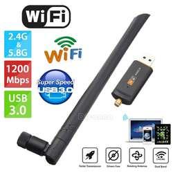 AU 1200 Мбит/с беспроводной USB Wifi адаптер ключ двухдиапазонный 5 ГГц с антенной 802.11AC