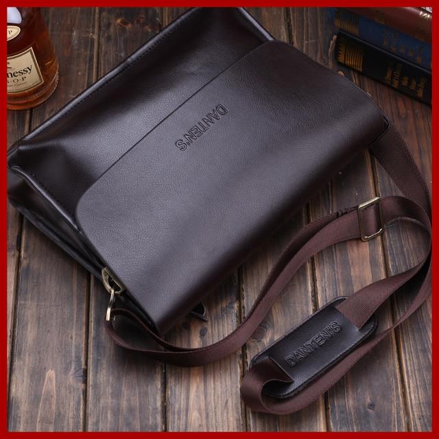 Danten s business shoulder messenger bags for men genuine leather bag tote  handbag bag black bag fashion men s briefcase 1606 1cee95782f