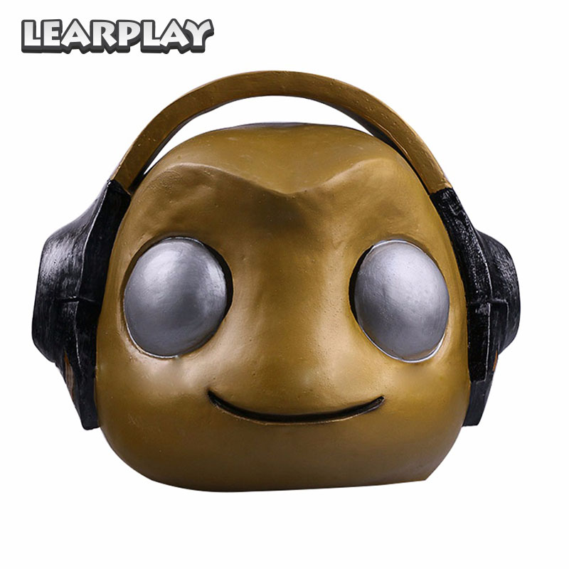 OW Lucio Cosplay Mask Halloween Masks Props Full Head Cover Helmet Hip-hop Baby Cos for Kid Adult Men Golden Silver ZB000188