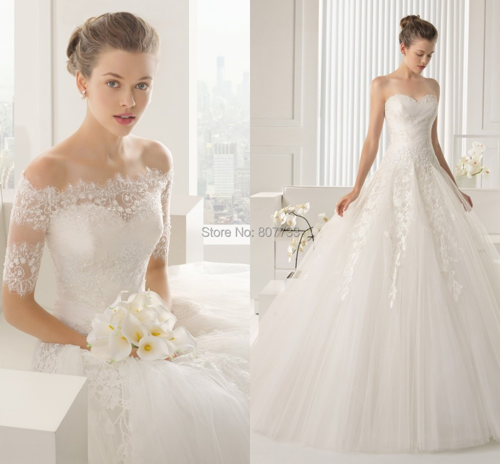 Buy cy4270 off the shoulder white lace for Off shoulder sleeve wedding dress