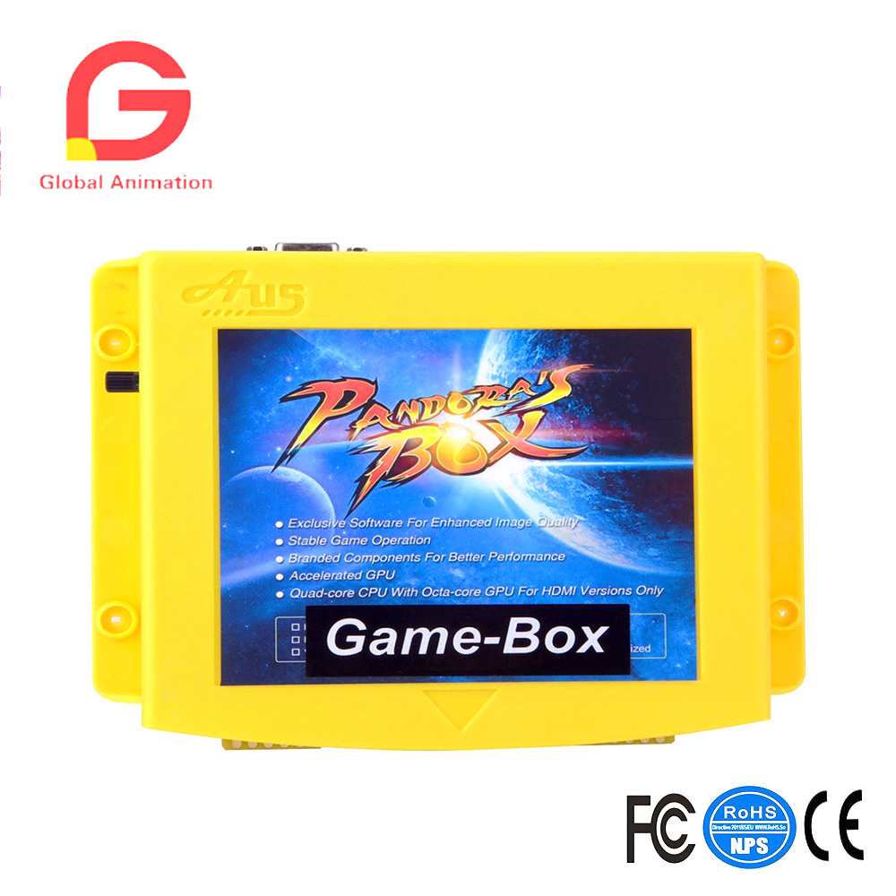 Pandora box 4X 800 in 1 Jamma Arcade Cabinet Game Box, Arcade Kit Diy, Classics Fighting Games Board For LCD/ CRT(15kHz) Monitor free shipping pandora box 4 vga cga output for lcdcrt 645in1 game board arcade bundle video arcade jamma accesorios kit arcade