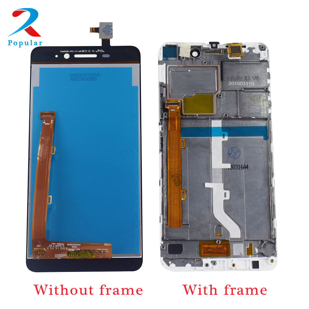 Para Lenovo s60 S60W S60T S60A S60-a pantalla táctil Panel digitalizador Sensor + pantalla LCD Monitor Panel para la Asamblea + marco