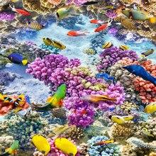 Beibehang Биологических коралловых Водонепроницаемый Пол в Ванной Комнате живопись кухня балкон ПВХ Стены бумаги Самостоятельно Пол mural 3D стикер стены