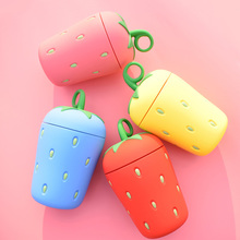 Cute Cartoon Strawberry Fruit Glass New Creative Children Summer Water Bottle Personality Cup Rope Student Lovers Gift