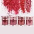 1 Caja de 10 ml Rojo Serie de Uñas Glitters Polvo Brillante Lentejuelas Decoraciones Del Arte Del Clavo Del Polvo de Uñas Punta Del Clavo Filetea #23411