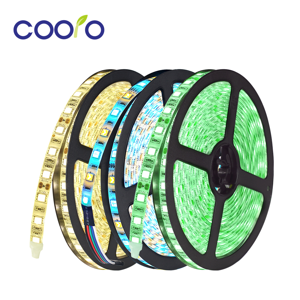 1 Roll 5M Waterproof 12V LED Strip Light 5050 RGB RGBW RGBWW CW+WW Red Green Blue Diode Tape LED Lamp Home Holiday Decoration