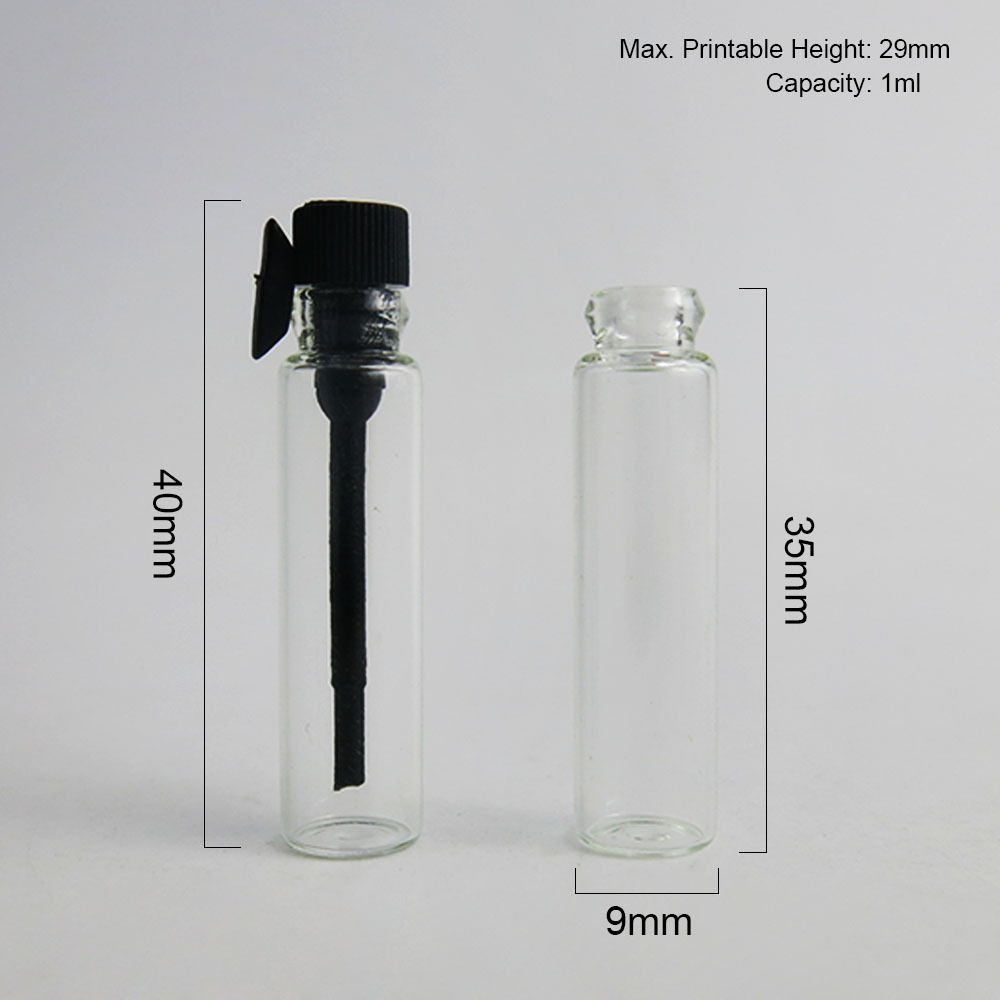 1000x1 мл мини флакон для парфюма флакон 1cc стеклянный тестер стеклянная бутылка с PE пробкой 1cc маленькая стеклянная бутылка для духов прозрачная бутылка