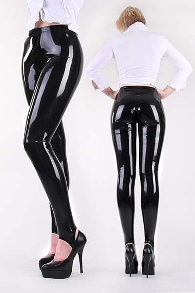 Mujeres libres del envío más tamaño sexy negro wet look pvc con sml XL