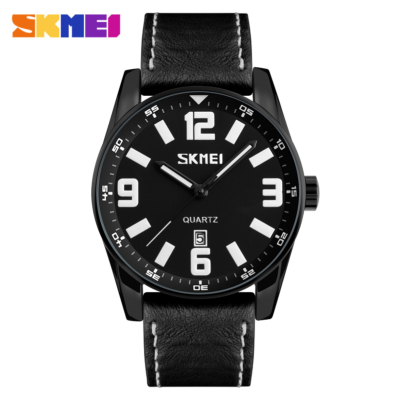 SKMEI New Fashion Sports Watches Men Large Dial 30M Waterproof Watch Quartz Calendar Wristwatches Relogio Masculino 9137 weide popular brand new fashion digital led watch men waterproof sport watches man white dial stainless steel relogio masculino