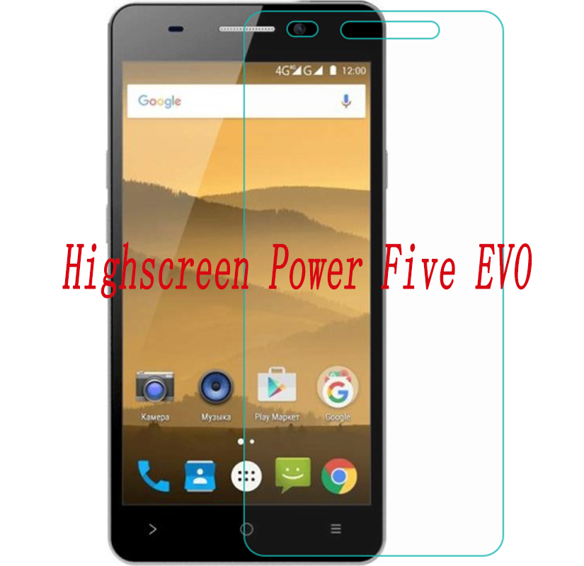 2PCS Smartphone Tempered Glass  9H Explosion-proof Protective Film Screen Protector Phone For Highscreen Power Five EVO  5