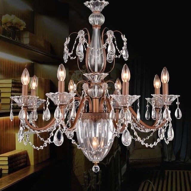 Italien Rostigen Led Hause Beleuchtung Kronleuchter Für Esszimmer Küche  Retro Amerikanischen Lampe Vintage Kronleuchter Lüster De