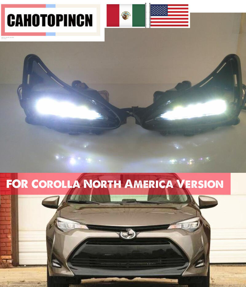 Fog Light Cover Compatible with Toyota Corolla 05-08 Included Right and Left Side