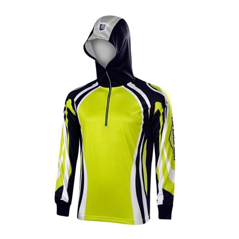 New UPF 50 long sleeve performance fishing shirt fishing <font><b>clothing</b></font> outdoor camping hiking <font><b>uv</b></font> protection shirt anti microbial