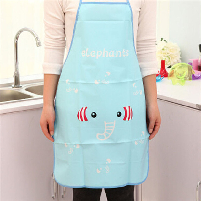 1PC Women Waterproof Cartoon Kitchen Cooking Bib Apron Waterproof Aprons Gowns Suits For Men And Women