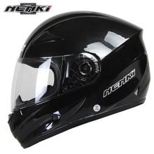 NENKI Full Cover Motorcycle Helmet Men Motorbike Racing Full Helmet Summer 4 Seasons with Safety Helmet with Windproof Collar