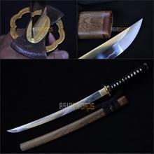 Free Sword Bag Sharp Real Hand Forged T10 1095 Real Clay Tempered Steel Japanese Samurai Katana Wakizashi Sword Ninja Tanto #BFH