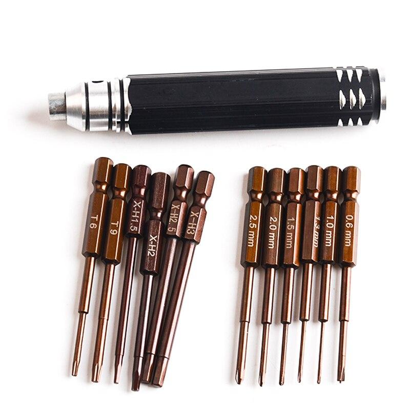 Набор прецизионных отверток 12 в 1, S2 высокоскоростные стальные наборы, инструменты для ручного ремонта для квадрокоптера DJI Phantom 2 3 4