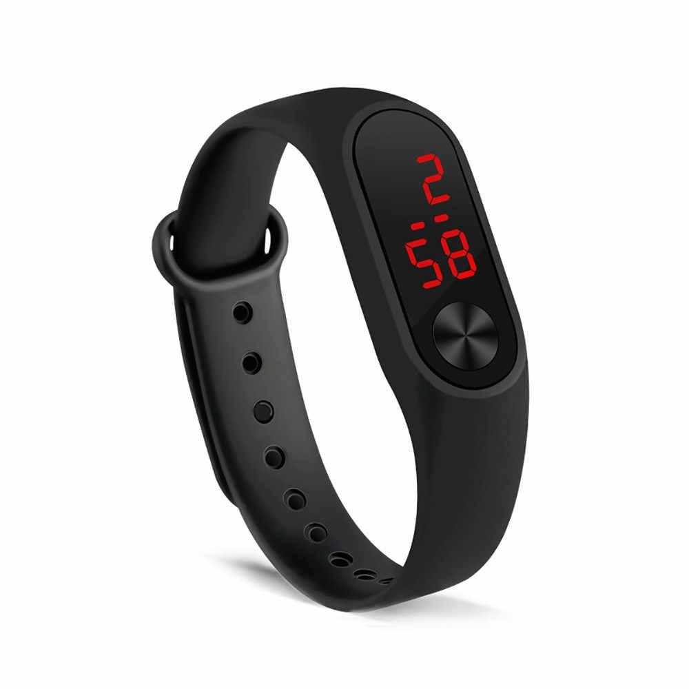 ساعة يد نسائية بسيطة ساعة يد رياضية بإضاءة Led ساعة إلكترونية عصرية Reloj deportivo para mujer C50