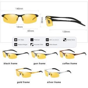 Image 5 - HD نظارات للقيادة ماركة اللونية الاستقطاب النظارات الشمسية الرجال الألومنيوم الرياضة حملق الاتجاه Chamelen oculos دي سول masculino UV400
